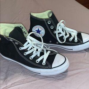 Converse Black  High Tops NEW